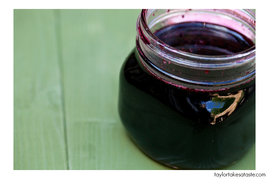 Recipe for Blueberry Iced green tea