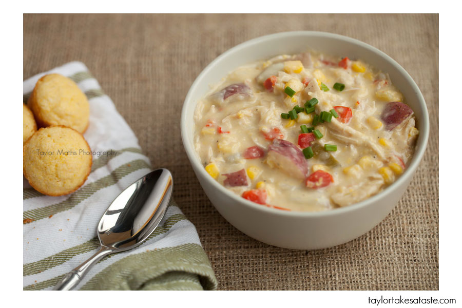 Roasted Chicken Corn Chowder