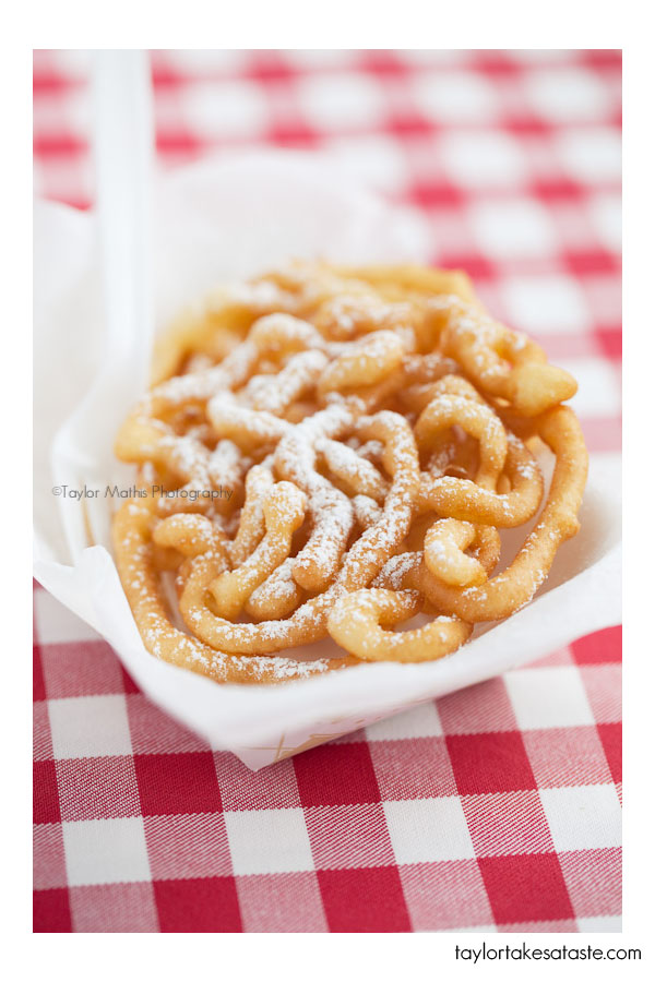 Mini State Fair Style Funnel Cakes