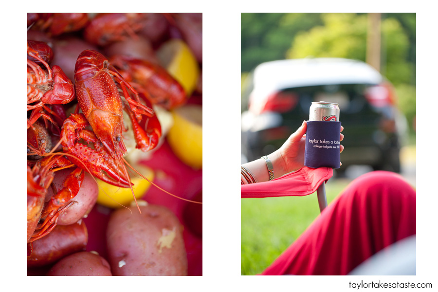 A spring tailgate and seafood boil…