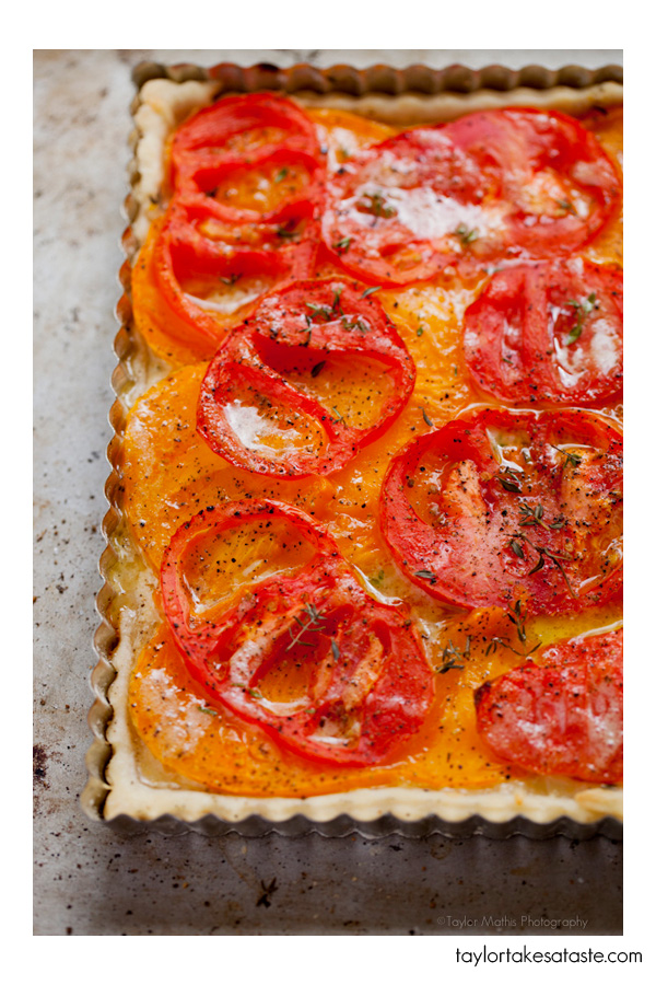 End of Summer Heirloom Tomato Tart