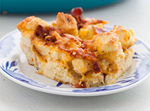 Bacon and Cheese Bread Pudding