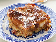 Bacon, Bourbon and Doughnut Bread Pudding