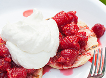 Grilled Shortcakes with Raspberries and Orange Whipped Cream