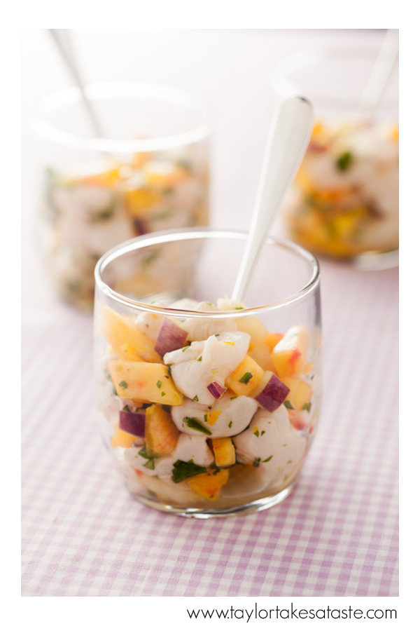 Peach and Scallop Ceviche