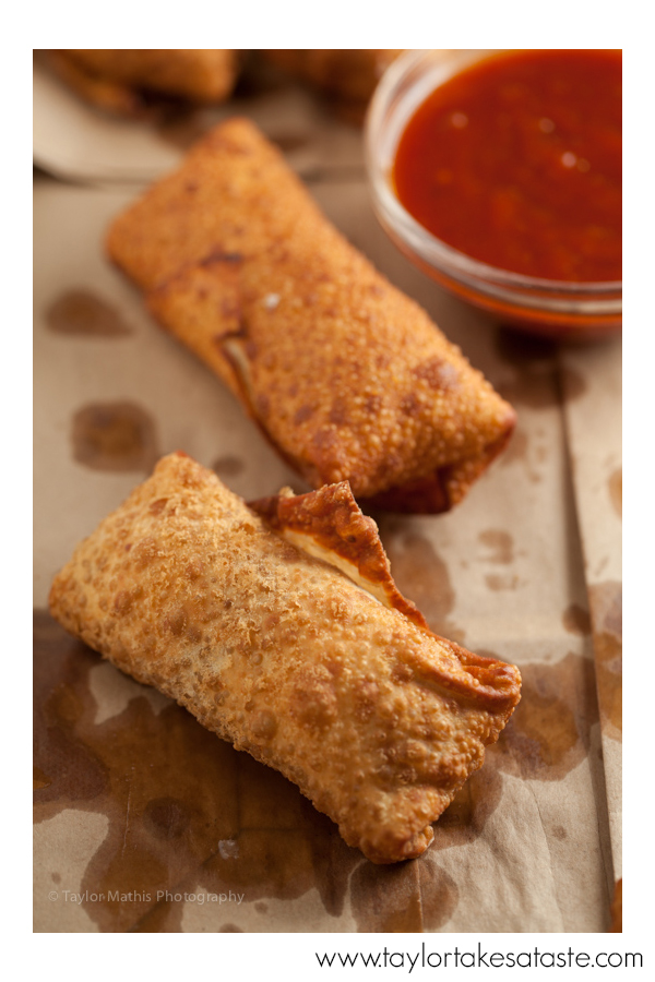 Smoky Barbecue and Cheddar Egg Roll