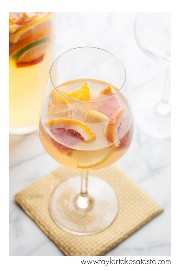 blood orange white sangria single glass