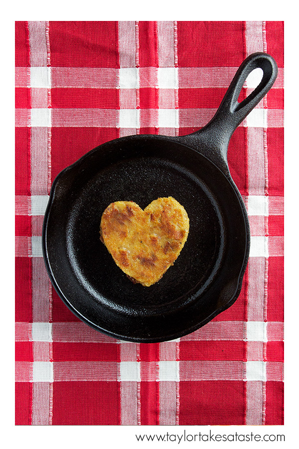 Bacon Bourbon Polenta Hearts