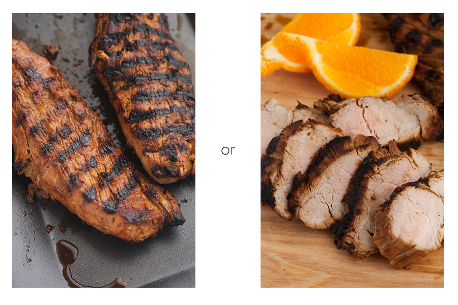 Grilled Tangelo Teriyaki  Pork Tenderloin 1 or 2