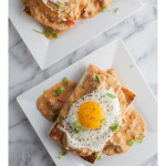 Open Faced Breakfast Sandwich with Cheddar Hot Sausage Gravy_2