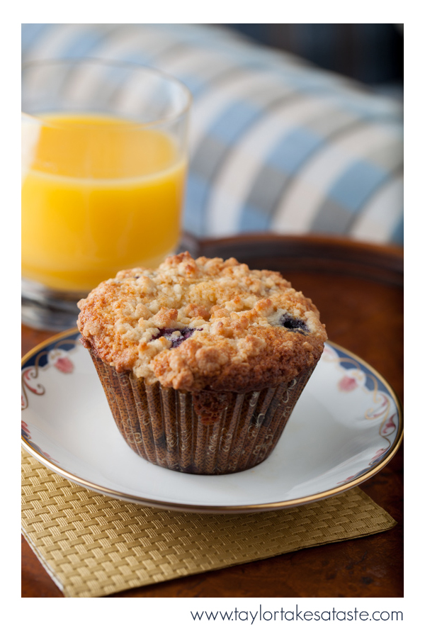Texas Size Blueberry Honey Streusel Muffins