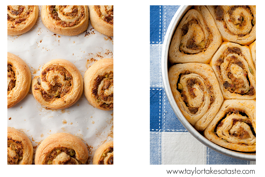 Chipotle Sausage Bacon Pinwheels