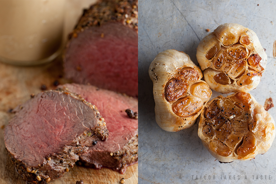 Beef Tenderloin With Roasted Garlic Sauce