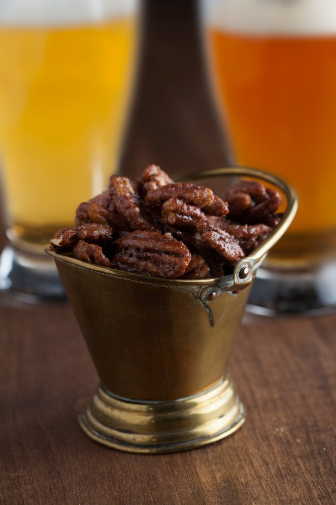 Spicy and Sweet Roasted Pecans