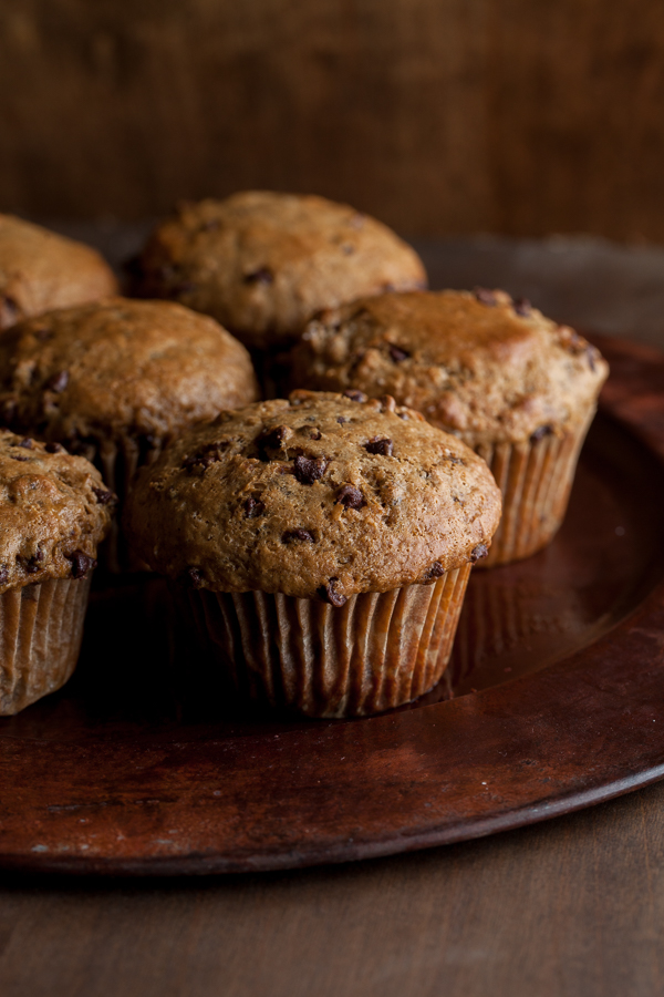 Coffee Chocolate Mini Chip Muffins
