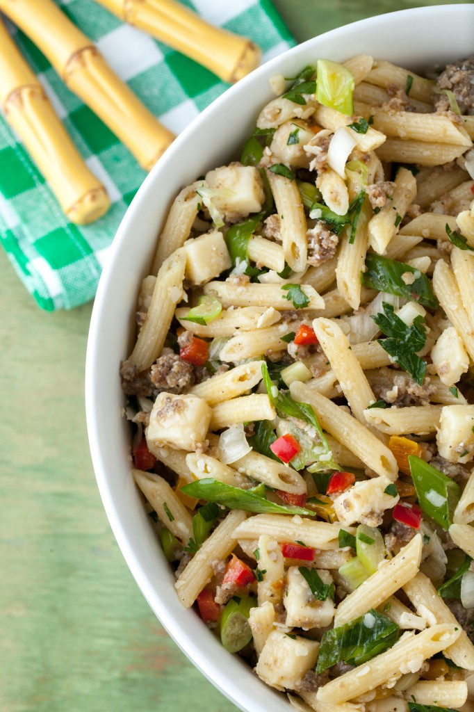Pasta Salad with Sausage and Pepper Jack